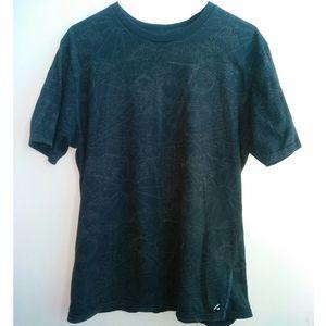 Hurley Black Graphic Tee Shirt — Slim Fit Large